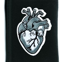 Anatomical Human Heart Tri-fold Wallet w/ Chain Occult Clothing