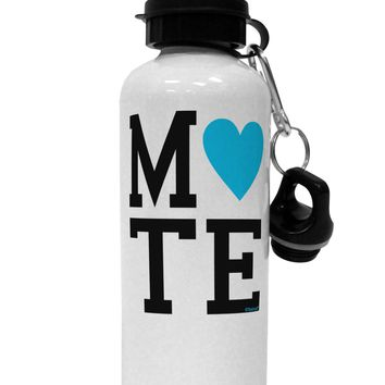 Matching Soulmate Design - Mate - Blue Aluminum 600ml Water Bottle by TooLoud