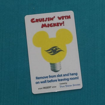 One Mickey Lightbulb DCL Disney Cruise Light Card for Fish Extender FE Gift