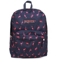 "JanSport Superbreak Backpack - Navy Moonshine/Pink Flamingo Icon - 16.7""H x 13""W x 8.5""D"