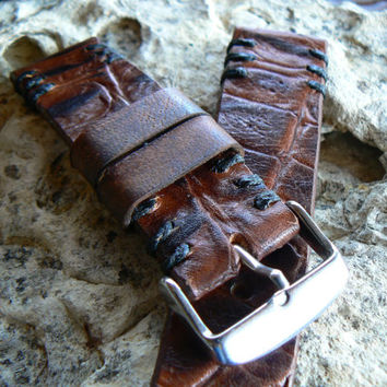 Handmade  Croco Watch Strap Bands