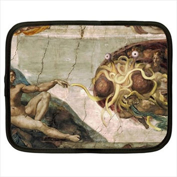 Church Of The Flying Spaghetti Monster FSM Computer iPad Kindle Tablet Sleeve Case Size S M L XL XXL Custom Design Made to Order