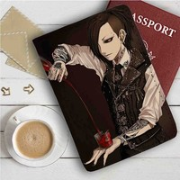 Tokyo Ghoul Uta Drink Leather Passport Wallet Case Cover