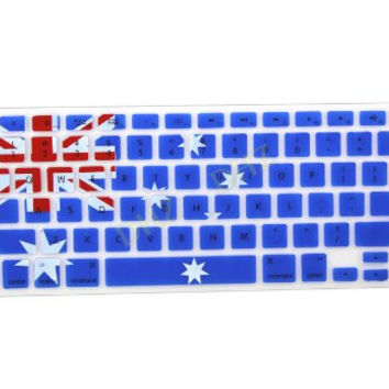 "Australia Aussie Flag Pattern Keyboard Cover Decal Skin for Apple Macbook Macbook Pro iMac Keyboard  13"" 15"" 17"""