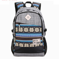 Unique Canvas Backpack School Bag Etchnic Casual Daypack Travel Gift