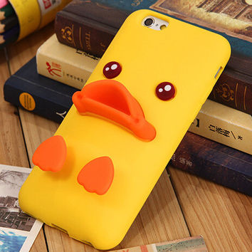 Cute Duck Case Cover for iphone 5s 6 6s Plus Gift 190