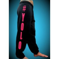 #YOLO Pink Sweatpants
