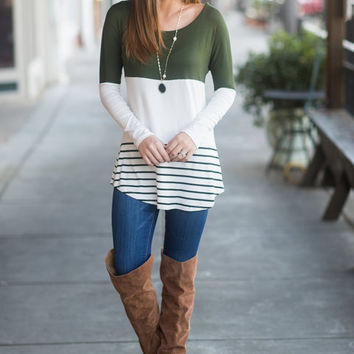 Fresh Air Tunic, Olive
