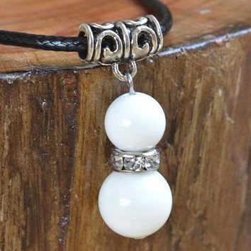 Rope Chain White Stone Necklace