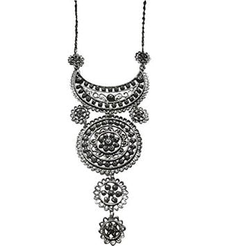 Moroccan African Artisan Crescent Moon Necklace
