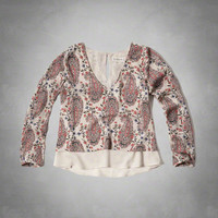 Drapey Tiered Blouse