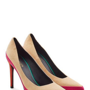 Colorblocked Suede Pumps - Balmain | WOMEN | US STYLEBOP.COM