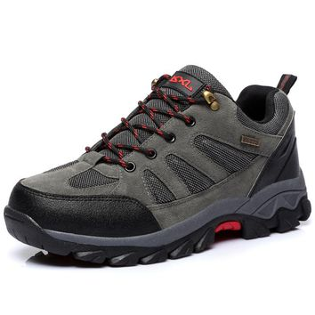 Gomnear Men's And Women's Outdoor Hiking Shoes Trekking Breathable Leather Travel Hunting Athletic Sneakers Shoes Boots 603A
