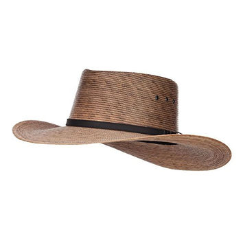 Men's Palm Braid Gambler Hat - Dk Natural L