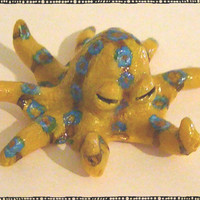 Angry Blue-Ringed Octopus Polymer Magnet