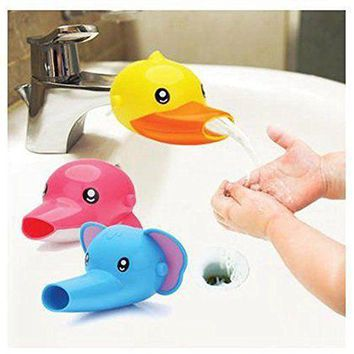 Fun Animals Faucet Extender 3 PCS Bundle Offer - Baby Kids Hand Washing Bathroom Sink Accessory Gift