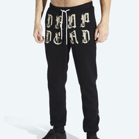 Black Letter Jogging Bottoms