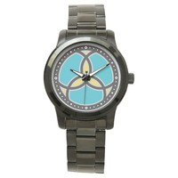 Jesus Fish Trinity Stained Glass Logo Watch