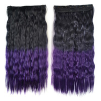 Wig Dyed Corn Hot Five Cards Hair Extension    black to dark purple