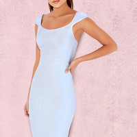 Clothing : Bandage Dresses : 'Anelle' Powder Blue Bandage Dress