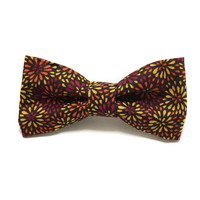 Dog Collar Bow Tie - Dog Bow Tie - Fall Mums - Fall Dog Bow Tie - Flower Dog Bow Tie - Floral Dog Bow Tie - Fall Flower Dog Bow
