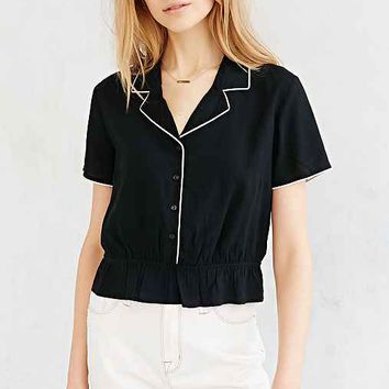 Cooperative Revere-Collar Blouse-