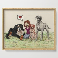 I love dogs Serving Tray by savousepate