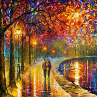 Spirits By The Lake  — Artistic Signed Print on Cotton Canvas By Leonid Afremov