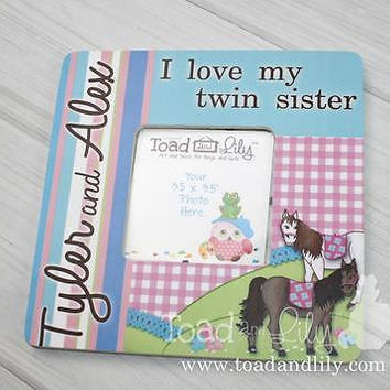 Twin Sister Horses Photo Picture Frame Kids For Bedroom Baby Nursery PF0046
