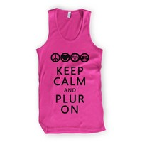 Keep Calm and PLUR On Tank Top : Rave Tank Tops From RaveReady
