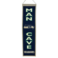 Seattle Seahawks NFL Man Cave Vertical Banner (8 x 32)