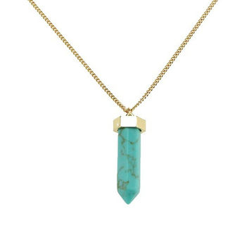 Gift Shiny New Arrival Jewelry Stylish Accessory Green Pen Turquoise Necklace [4956866692]