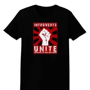 Introverts Unite Funny Womens Dark T-Shirt by TooLoud