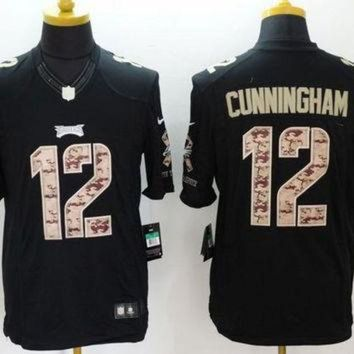 VLX9RV Nike Eagles #12 Randall Cunningham Black Men's Stitched NFL Limited Salute to Service
