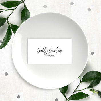 Stylish Hand Lettered Printable Place Cards-Calligraphy Wedding Place Cards-DIY Handwritten Escort Cards-Place Seting-Seating Card