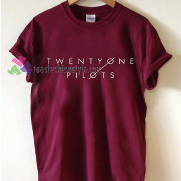 Twenty one Pilots logo Tshirt shirt Tees Adult Unisex custom clothing