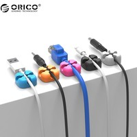 ORICO 10Pcs Colorful Cable Winder Wire Storage Silicon Cable manager Holder Desk Tidy Organiser For Digital Cable