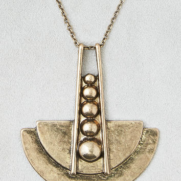AEO Pendulum Necklace, Gold