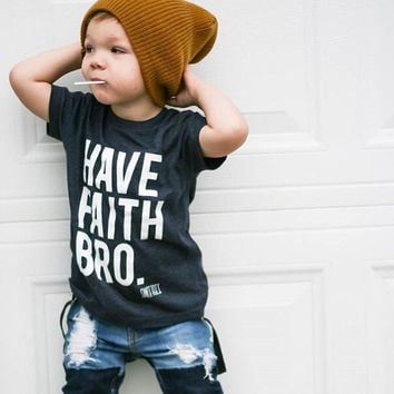 HAVE FAITH BRO - Heathered Blue