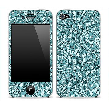 Subtle Turquoise Colored Paisley Print Skin for the iPhone 3gs, 4/4s, 5, 5s or 5c