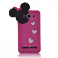Disney Minnie Mouse Hide and Seek Silicone Case for Samsung Galaxy S3 i9300-Hot Pink