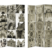 Neo-Gothic Style Room Divider - Cathedral Sketches