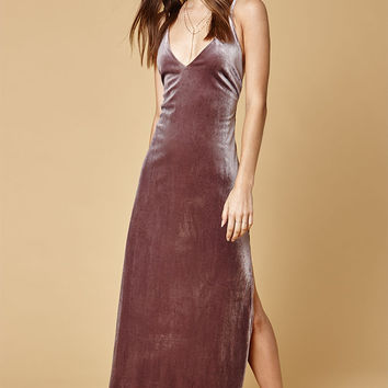 LIONESS Don't Be Jealous Velvet Maxi Dress at PacSun.com