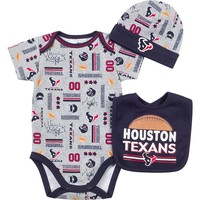 Houston Texans Bodysuit, Bib & Cap Set - Baby, Size: