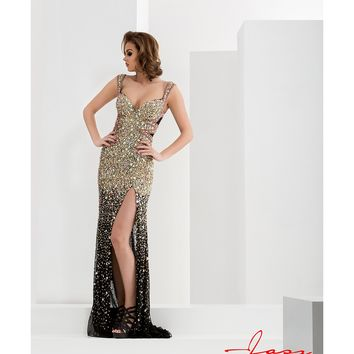 Preorder - Jasz Couture 5731 Black & Gold Sexy Embellished Fitted Long Dress 2016 Prom Dresses