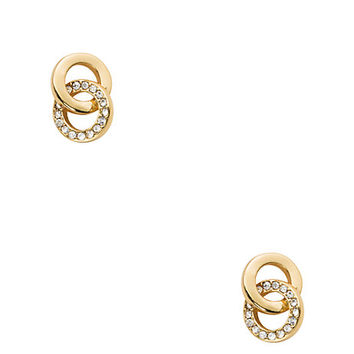 Kate Spade Infinity & Beyond Studs Clear/Gold ONE