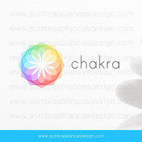 OOAK Premade Logo Design - Rainbow Chakra - Perfect for a spa products brand or a wellness center