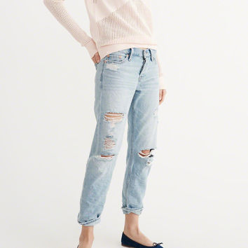Womens Ripped Boyfriend Jeans | Womens New Arrivals | Abercrombie.com