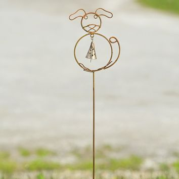Dog w/Bell Garden Stake - New item! Pre-order for August!