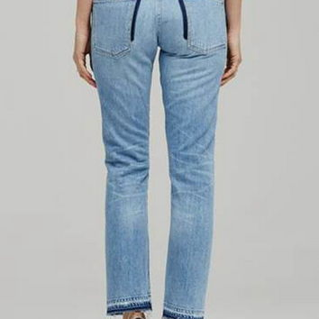 LIYA HIGH RISE CLASSIC JEAN WITH SHADOW POCKET AS SEEN ON KENDALL JENNER